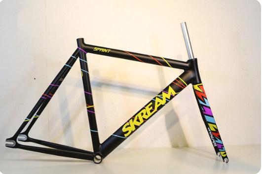 HK Skream Bike Frame, Fixed Gear Bike Frame.Racing Bike, Track Bike Frame with Carbon/Alloy Front Fork(China (Mainland))