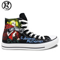 Fullmetal Alchemist Edward Elric Painted Shoes Anime Shoes Womens Mens Casual Shoes Christmas Gifts Birthday Gifts