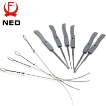NED 10pcs Broken Key Extractor Set Locksmith Tool Key Remove Removal Hooks Lock Kit