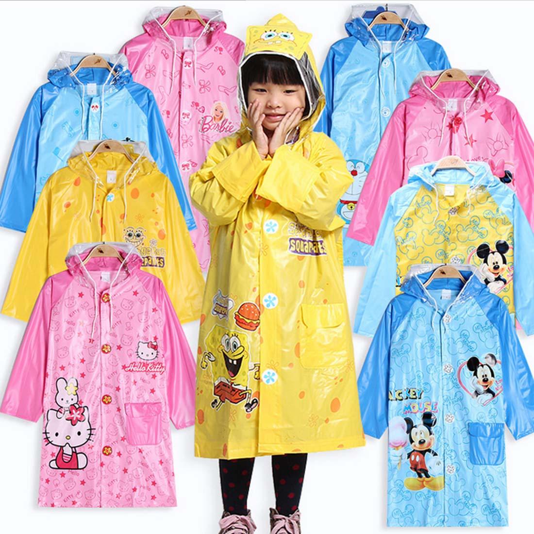 New kids rain coat children raincoat waterproof cartoon rainwear unisex child rainsuit carton rainsuit(China (Mainland))