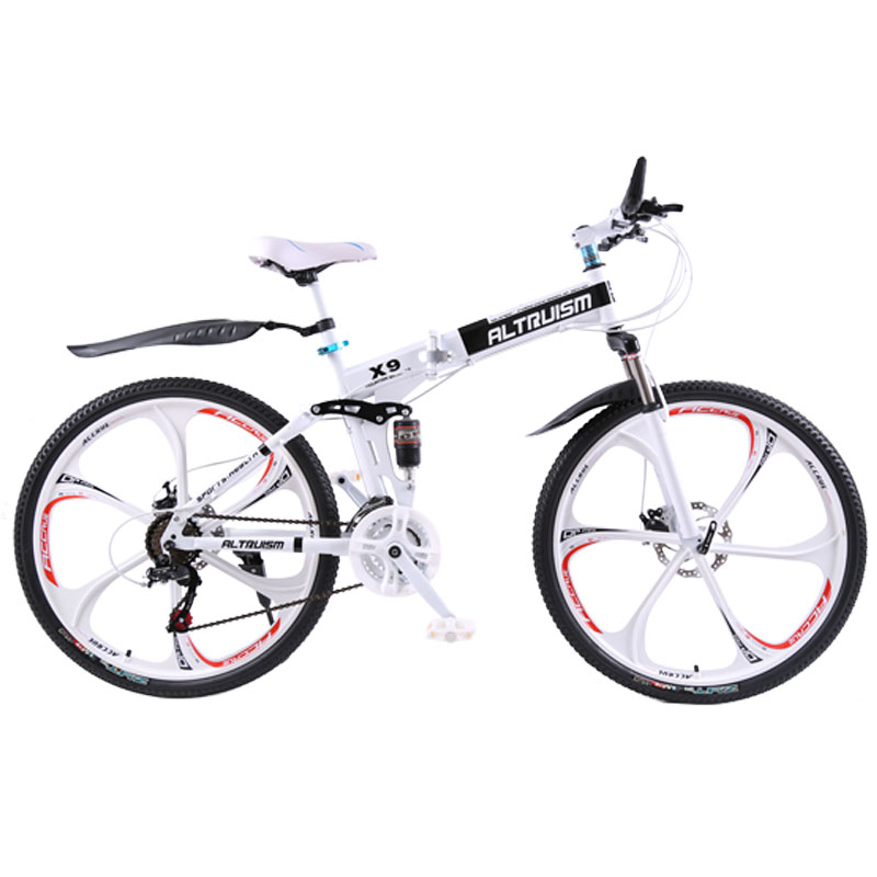 Altruism X9 Folding bicycles for 21 speed Steel mountain bike unisex children 26 inch mountain bikes bicycle(China (Mainland))