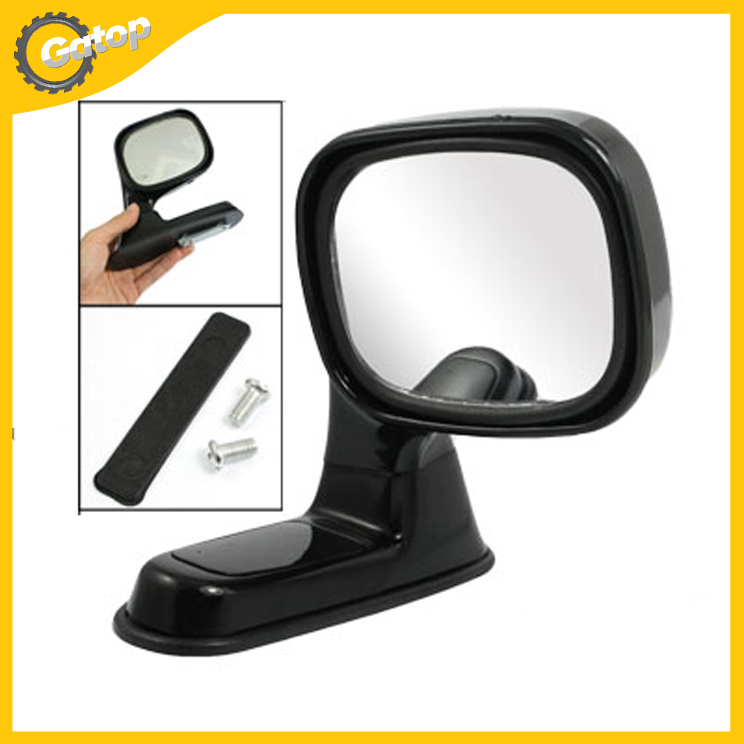 Auto Car Adjustable Right Door Side Rear Mirror Car Blind Spot Mirror Car Rear Blind Spot Mirror Car Styling Black Plastic 1Pc(China (Mainland))