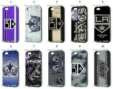 New Arrival Hot 1pc Hybrid Retail NHL Los Angeles Kings White Mobile Cellphone Cover Hard Cases For IPHONE 5 5s Free Shipping