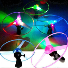 Multicolor Light Up LED Flashing Flying UFO Saucer Helicopter Kid's Outdoor Toys(China (Mainland))
