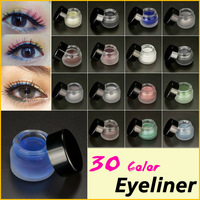 Fashion Beauty 30 Color Optional Makeup Eyeliner Gel Brand  Waterproof Liquid Eye Liner 3g