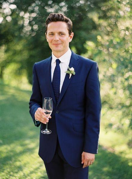 New Arrival wedding suits for men Blue Groom Tuxedos Notched Lapel Mens Siuts Two Piece Suit Slim Fit One Button Groomsmen Suit