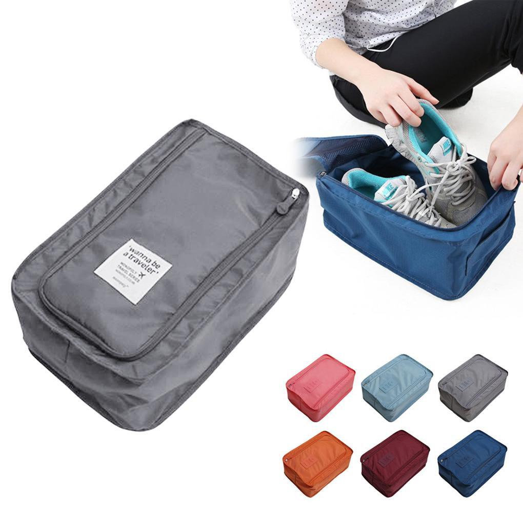 Travel Storage Bag Nylon 6 Colors Portable Organizer Bags Shoe Sorting Pouch Hot Sale(China (Mainland))