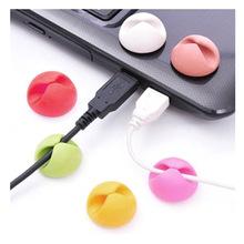 6pcs/lot cable winder earphones cable organizer management desk wire storage device USB Cable management device