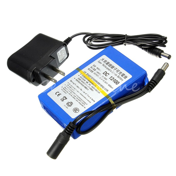 4000mAh DC 12V Super Rechargeable Lithium-ion Battery Pack Plug(China (Mainland))