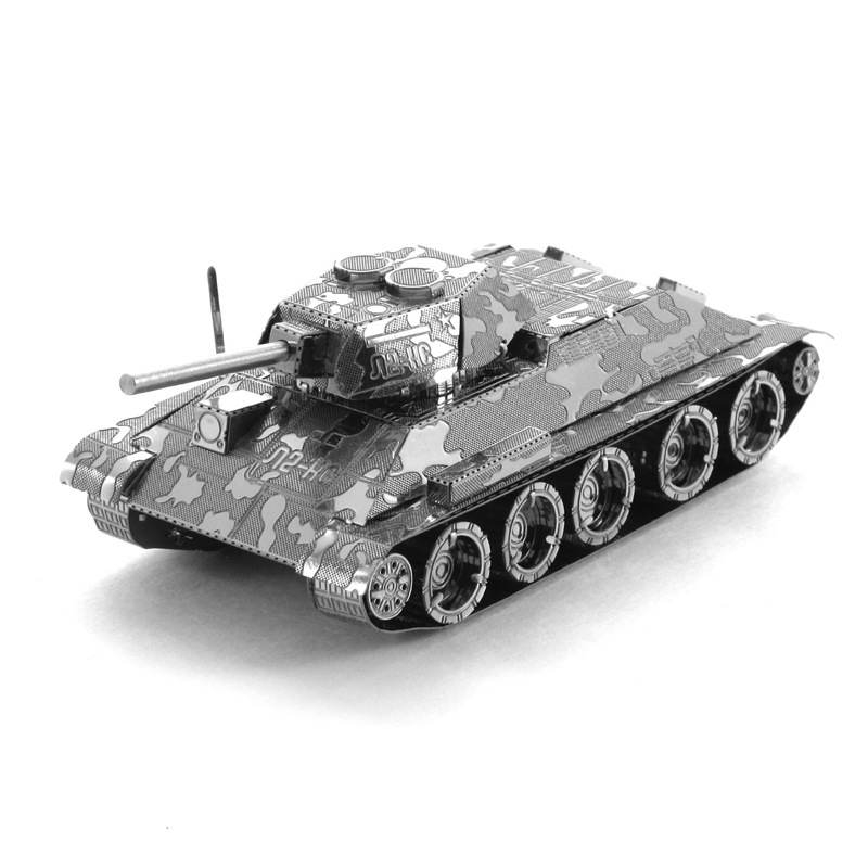 Hot Sale T34 Tank Military 3D Puzzle Metal Model DIY Jigsaw Puzzle For Office/ Home Decoration(China (Mainland))