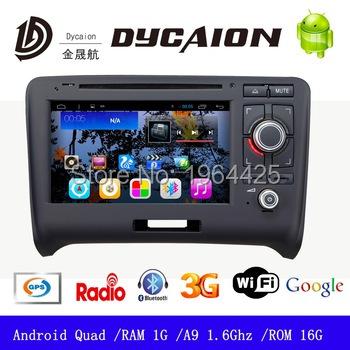 car dvd for Audi TT with GPS/Bluetooth/Radio/SWC/Virtual CD/3G internet/ATV/iPod/DVR CPU 1.6G support DVB-T2 ROM 16G RAM 1G(China (Mainland))