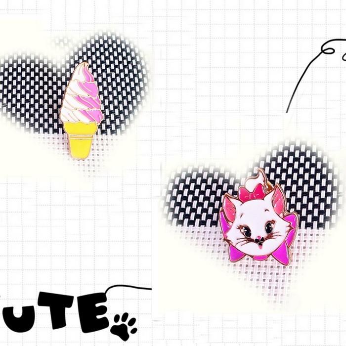 Free shipping Lovely cartoon cat ice cream Brooch(China (Mainland))