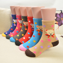 Hot Sales 1-15 years old Winter new baby cartoon  comfort antibacterial children  thick warm terry socks cotton socks wholesale(China (Mainland))