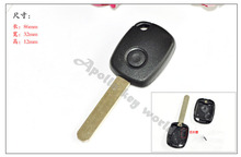 10PCS/LOT 1 BUTTON REPLACEMENT REMOTE KEY SHELL CASE FOR  HONDA CRV Civic Accord ODYSSEY FOB BLANK
