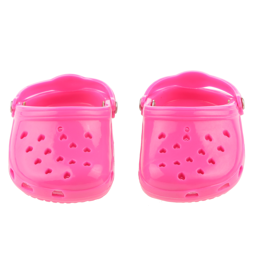 "NEW 18"" 7.3 cm Fashion Pink Rubber Beach Sandals Slippers for American Girl Doll Daily Life Necessities Acessory Best Toys Gift(China (Mainland))"