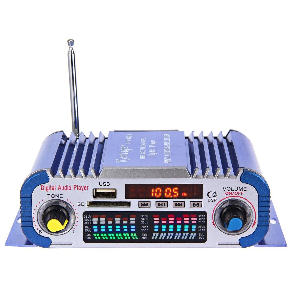 Power car HY601 Hi-Fi 12V Digital Auto Car Stereo Power Amplifier Sound Mode LED Audio Music Player Support USB MP3 DVD SD FM(China (Mainland))