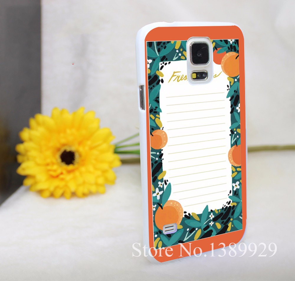Fresh Picks Market Phone Cases Hard White Case Cover for Galaxy S6 Edge S5 S4 S3 Mimi Series(China (Mainland))