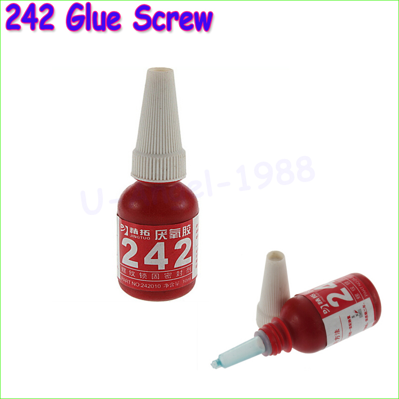 1pcs 242 glue screw glue Blue glue anaerobic adhesive 10ML(China (Mainland))