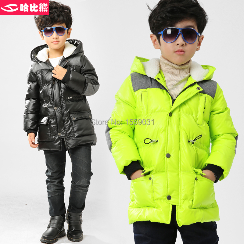 HobiBear Free Shipping Outerwear Child Down Coat Male Child Winter Ski Snowboard Sport Down Jacket Kids Down & Parkas T615(China (Mainland))