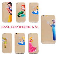 Новый тпу эльза русалка принцесса белоснежка мягкий силиконовый чехол крышка коке капа пункт для Apple , iPhone 6 6 s i6 4.7 »