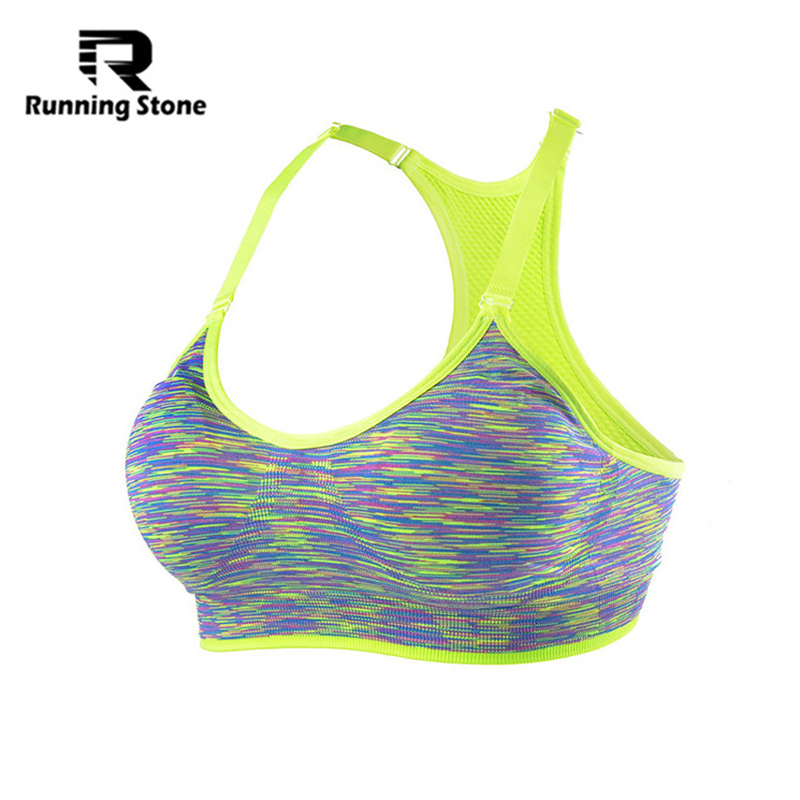 Top Selling Women Sports Bras Autumn Winter Fitness Bras Workout Deportivos Seamless Underwear Padded Bra Free Shipping(China (Mainland))
