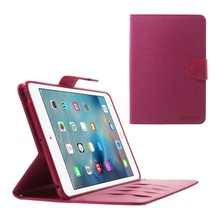 MERCURY GOOSPERY Canvas Leather Wallet Case for Pad Mini 3/2/1 Leahter Cases- Rose(China (Mainland))