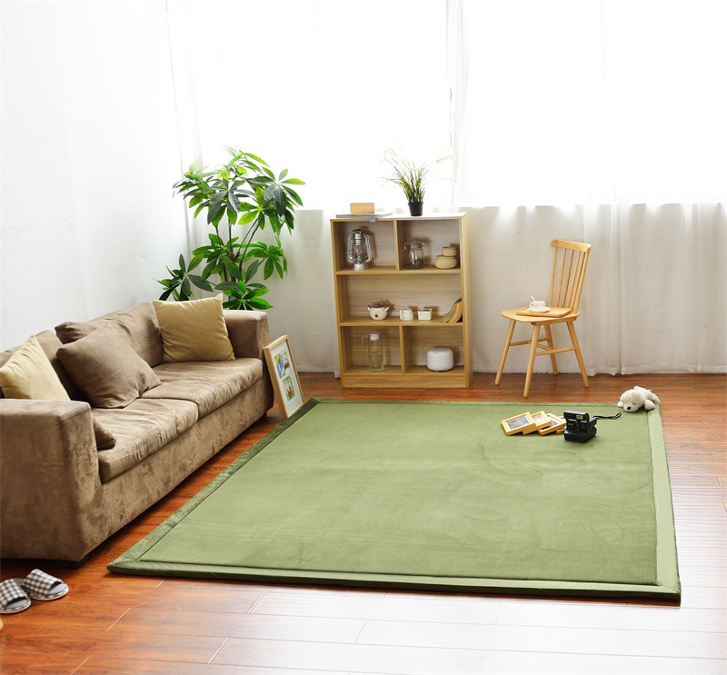 Thick Coral Fleece Mat Tatami Tea Table Manually Bedroom