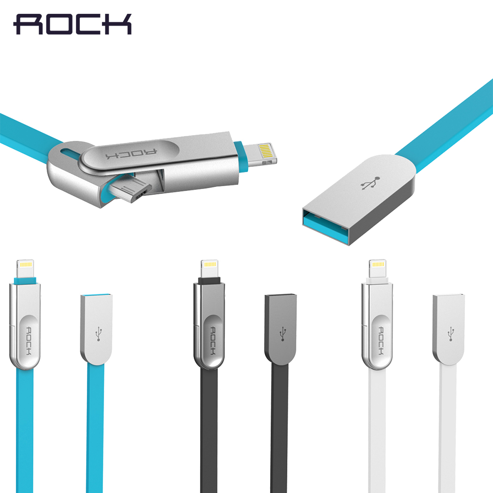 2IN1 Charging Cable for iPhone 6 6s Plus 5 5s SE 7 / Micro for Samsung HTC SONY Huawei Xiaomi Meizu Vivo Data Line Metal Plug(China (Mainland))