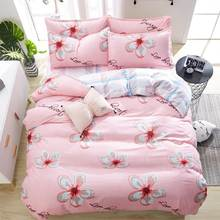 Bedding Set Fashion house luxury bed cover sheet Pillowcase Wavy stripes Home textile Family Bed Linens High Quality(China)