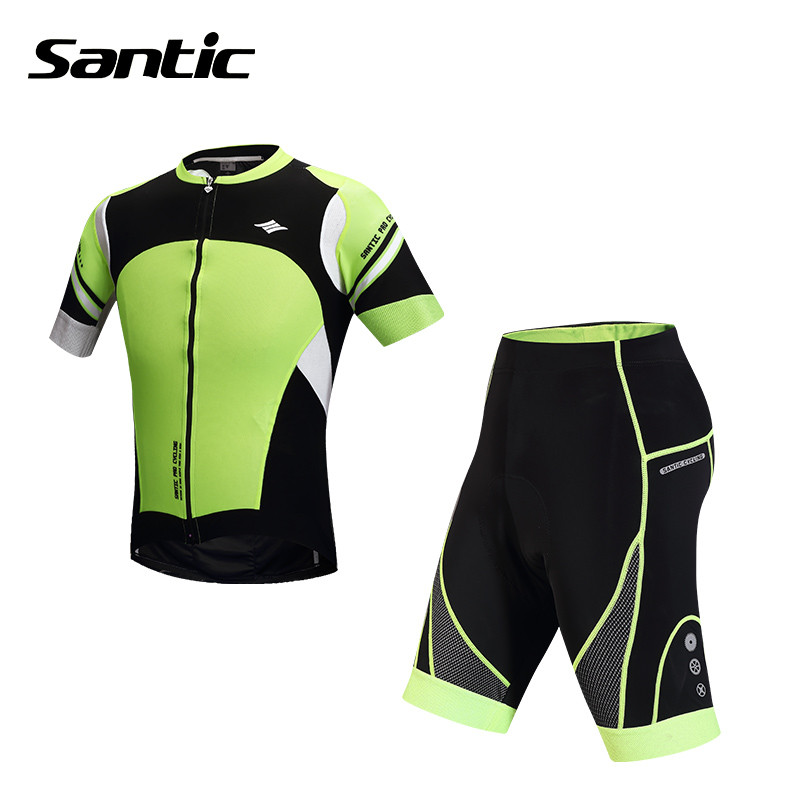 2015 Santic Summer Cycling Jersey + Short 4D Padded Set Bicycle Bike Mens Cycling Jersey Short Cycling Shorts Clothes M5CT049V<br><br>Aliexpress