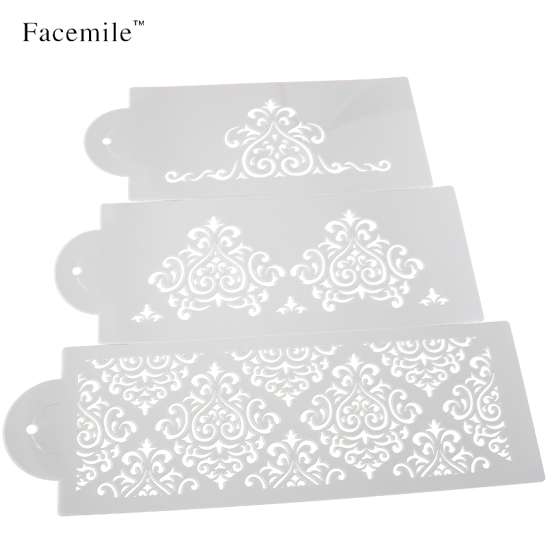 3pcs cake biscuit stencil bakery tool fondant mold crown king princess queen Bakeware Baking Fondant Cake Stencil Mold 52059(China (Mainland))