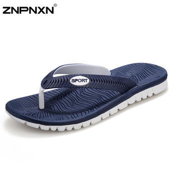Big Size 40-45 Men Sandals New Brand Flip Flops Men Beach Slippers For Men Summer Shoes Flat Sandals Men Flip Flops 2015