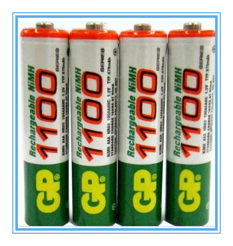 Free shipping!Hi-Power GP1100 4 x AAA 1100MAH/1.2V 1100 GP Rechargeable NiHM Battery Charging times or1000 times(China (Mainland))