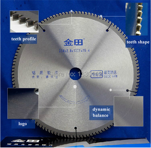 Free Shipping diameter 10 inches 254*2.8*120T*25.4 circular saw blade aluminum for cutting profile pipe tube sell from factory<br><br>Aliexpress