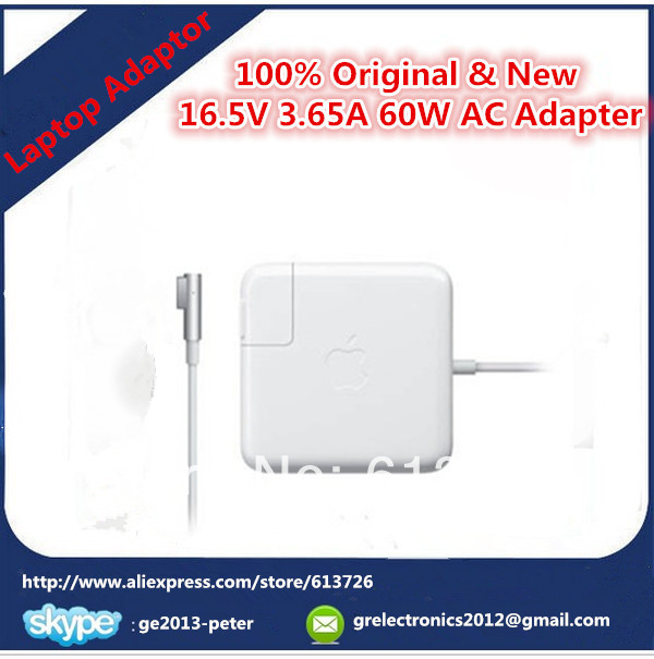 ,100% Original & New Laptop AC Power Adapter Apple Mackbook Pro A1344 Magsafe 60W 16.5V3.65A - Shenzhen Green Electronics Co.,LTD store
