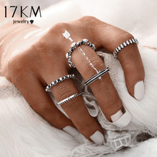Buy 17KM 2016 Fashion Vintage Punk Antique Silver Color Rings Women 5 pcs/ set Ring Set Finger Ring Knuckle Charm Jewelry for $1.39 in AliExpress store