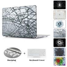 Cool hot sale Broken glass rupture burst Case for Apple macbook Air Pro Retina 11 12 13 15 laptop bag For Mac book 13.3 inch