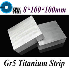 Buy 8*100*100mm Titanium Alloy Sheet UNS Gr5 TC4 BT6 TAP6400 Titanium Ti Plate Industry DIY Material Free for $38.50 in AliExpress store