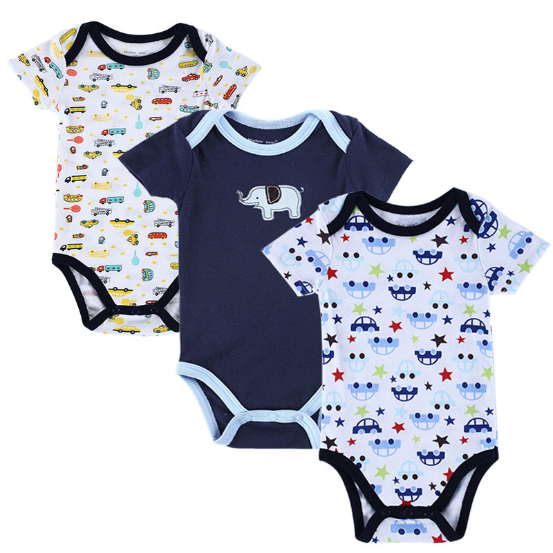 Baby girl boy bodysuit short sleeve baby clothing in rompers from