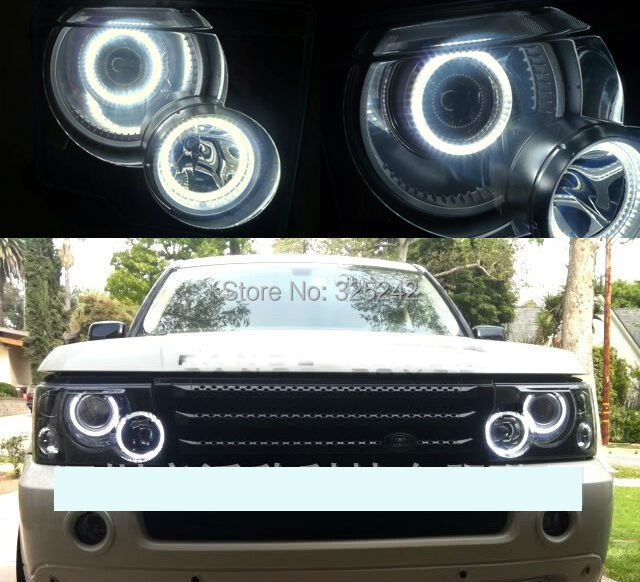 For Land Lover Range Rover Hse Model 2003-2006 Excellent Angel Eyes kit Ultrabright headlight illumination CCFL Angel Eyes kit(China (Mainland))
