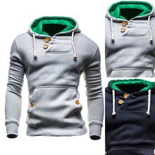 2016 Hoodies Men Sudaderas Hombre Hip Hop Mens Brand Double Pocket Long Sleeve Hoodie Sweatshirt Sport Suit Slim Fit Men Hoody(China (Mainland))