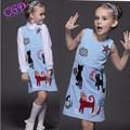Baby Girls Dress 2016 Brand Sleeveless Princess Dress for Girls Clothes Graffiti Pattern Designer Kids Dresses