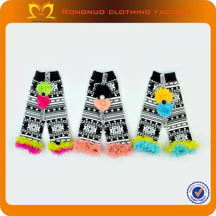 Wholesale new chiffon ruffled leg warmer soft arm warmer kids legwarmers 48pairs/lot(China (Mainland))