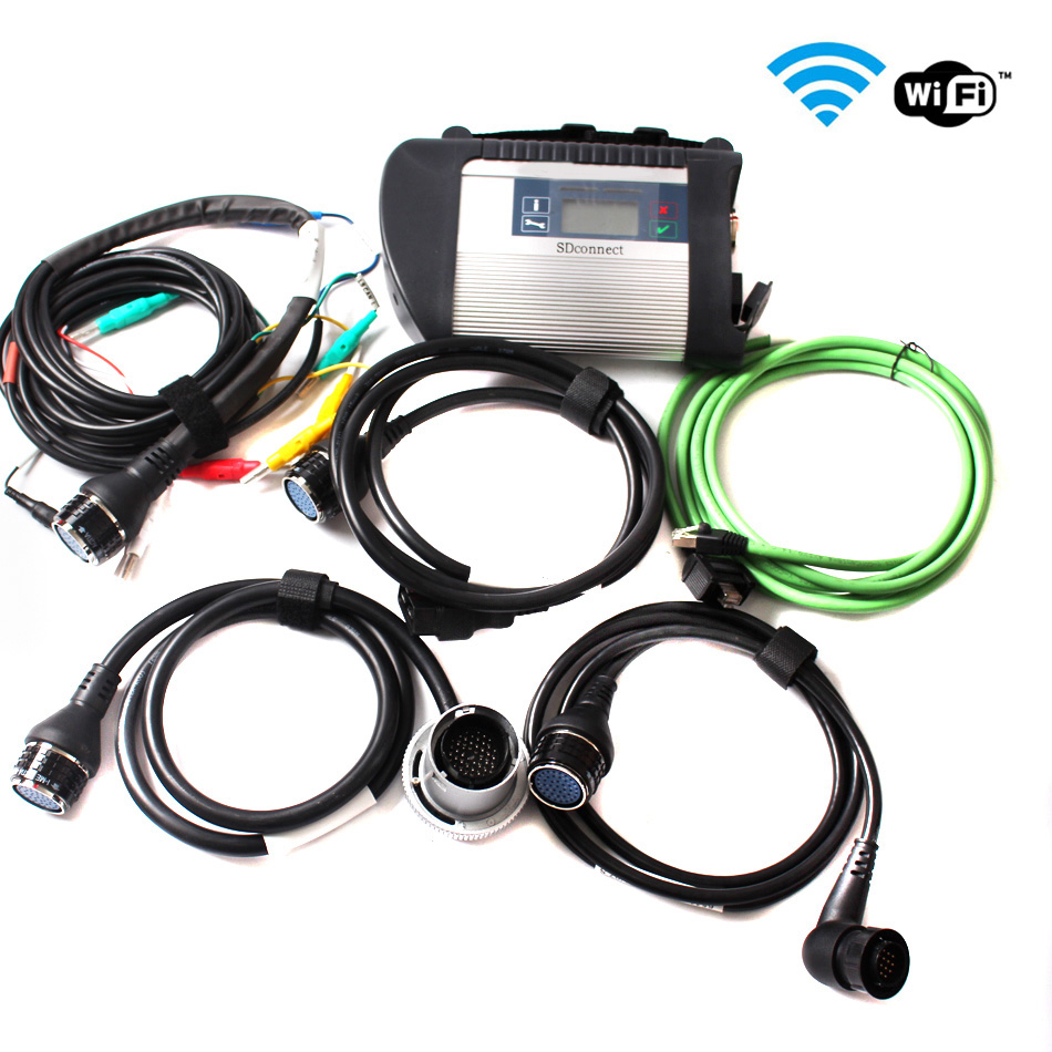 Full Chip PCB MB Star C4 support Multi-Languages without Hdd with WIFI for cars and trucks DHL free(China (Mainland))