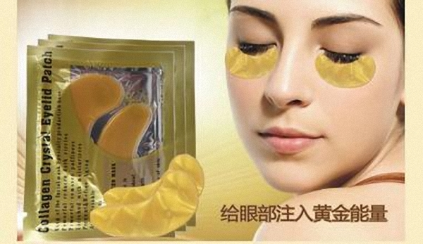 40pcs=20pairs Natural crystal collagen gold powder eye mask, Anti-Aging eliminates dark circles and fine lines Face care(China (Mainland))