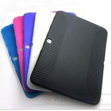 Case For Samsung Galaxy Tab 3 10.1 Soft TPU Silicone Rubber Protective Skin Case for Samsung Galaxy Tab 3 10.1 P5200 P5210 #YD52