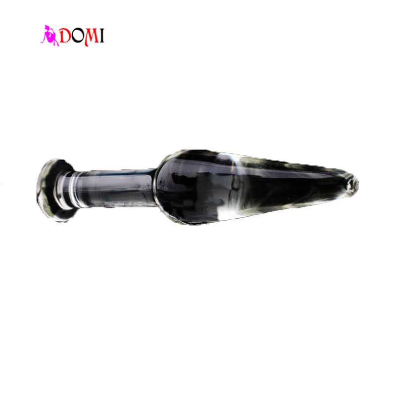 12*2.5cm Small Pyrex Glass Butt Anal Plug Bead Slim Crystal Dildo Sex Toy Masturbation Adult Toys<br><br>Aliexpress
