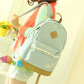 Japan And Korea Style Women Canvas Backpack School Bag For Girls