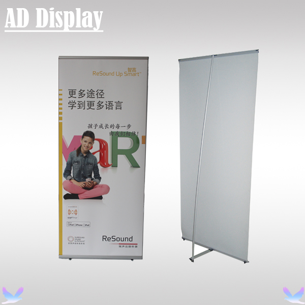 80*180cm High Quality Exhibition Portable Aluminum L Banner Display Stand,Popular Trade Show Booth Advertising Equipment(China (Mainland))