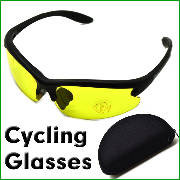 FASHION STYLE C3 Night Vision Yellow Lens Glasses for Outdoor Sports Sunglasses
